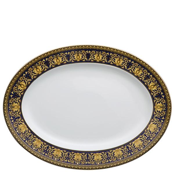Platter, 15 3/4 inch | Versace Medusa Blue
