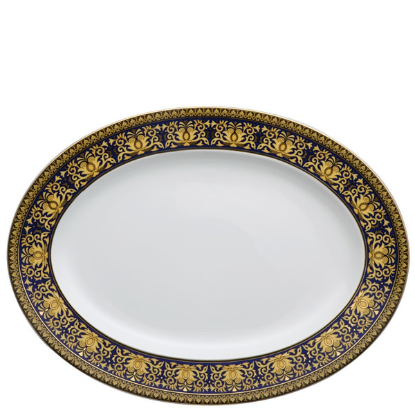 write a review for Platter, 15 3/4 inch | Versace Medusa Blue