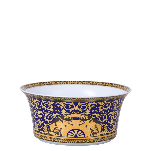 Vegetable Bowl, Open, 9 3/4 inch, 115 ounce | Versace Medusa Blue