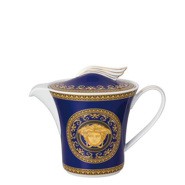 Tea Pot, 43 ounce | Versace Medusa Blue