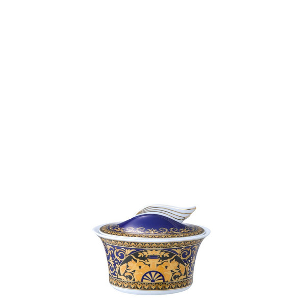 Sugar Bowl, Covered, 7 ounce | Versace Medusa Blue