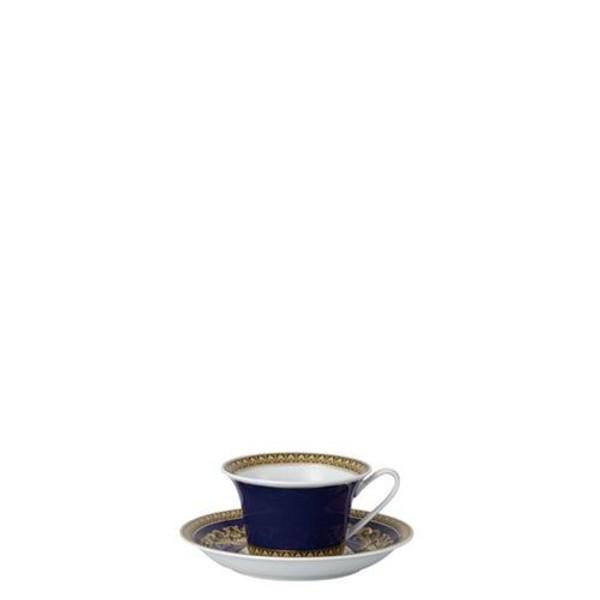 Saucer, Low, 6 1/3 inch | Versace Medusa Blue
