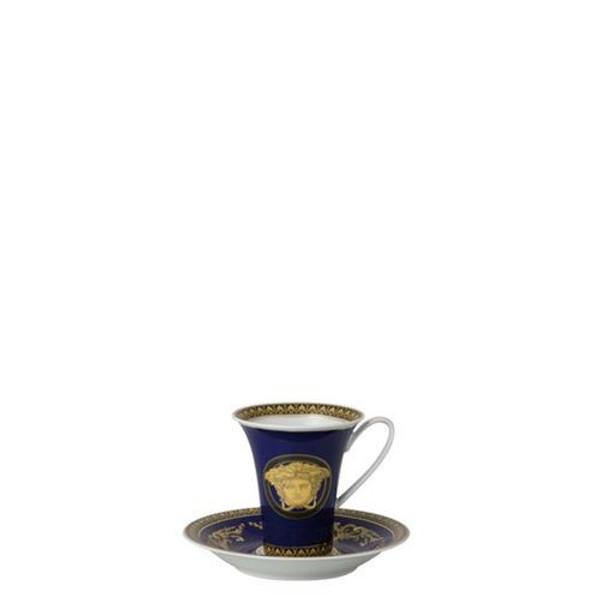 Saucer, High, 6 inch | Versace Medusa Blue