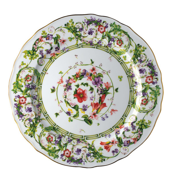 Service Plate, 12 1/4 inch | Versace Flower Fantasy