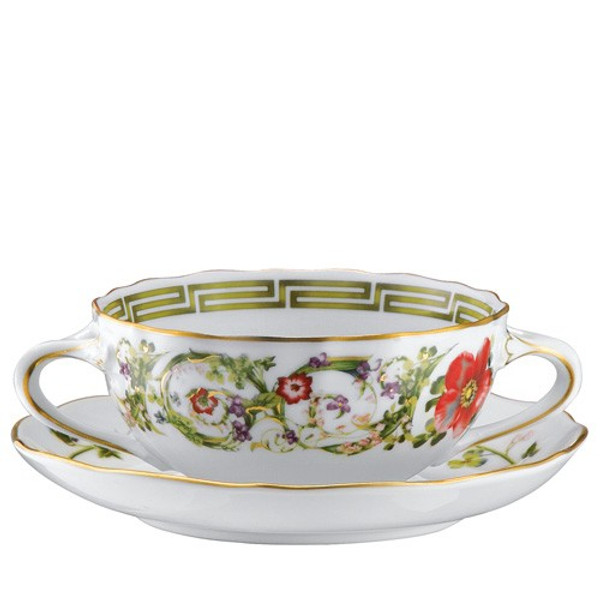 Cream Soup Cup, 9 ounce | Versace Flower Fantasy