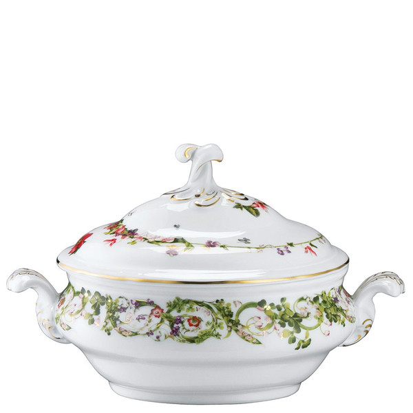 Soup Tureen, 118 ounce | Versace Flower Fantasy