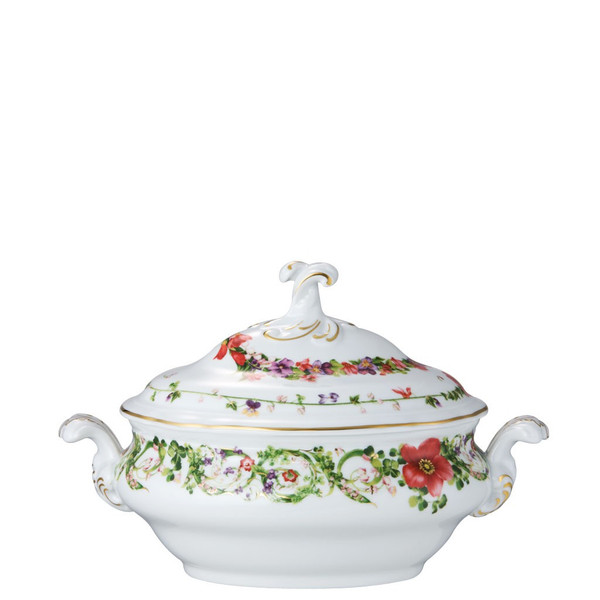 Vegetable Bowl, Covered, 50 ounce | Versace Flower Fantasy