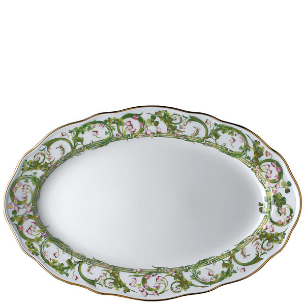 Platter, Oval, 15 inch | Versace Flower Fantasy