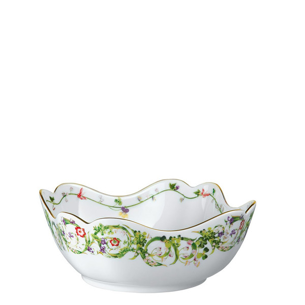 Vegetable Bowl, Open, 9 1/2 inch | Versace Flower Fantasy