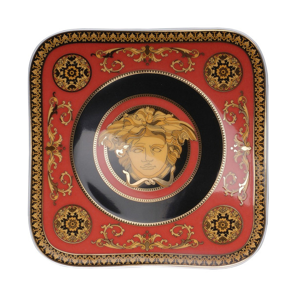 Bread & Butter Plate, 5 1/2 inch | Versace Medusa Red