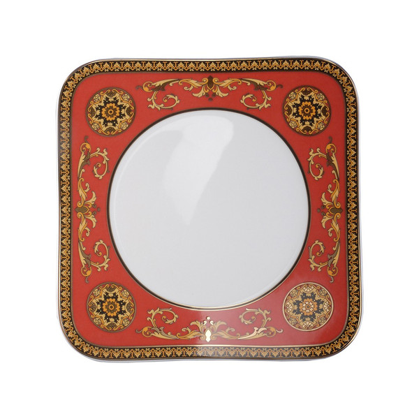 Salad Plate, 8 1/4 inch | Versace Medusa Red
