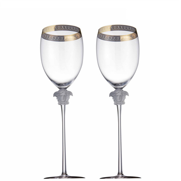 Water Goblet, 11 1/2 inch, 16 ounce | Versace Medusa D-Or