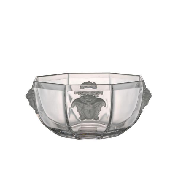 Bowl, Crystal, 7 inch | Versace Medusa Lumiere