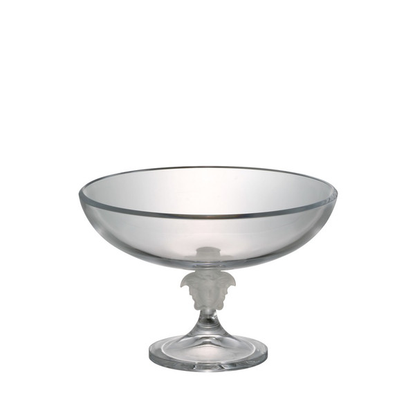 Bowl, Footed, Crystal, 13 inch | Versace Medusa Lumiere