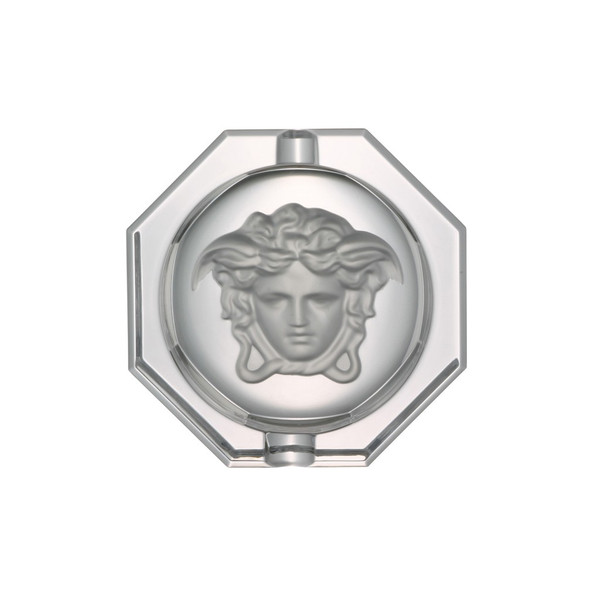 Ashtray, Crystal, 6 1/4 inch | Versace Medusa Lumiere