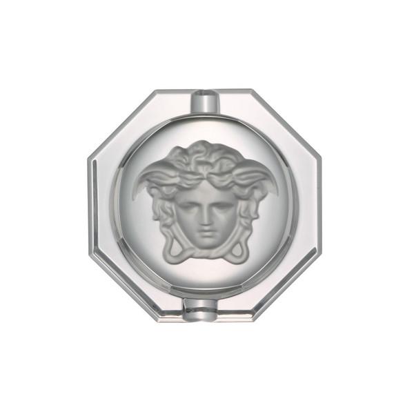 Ashtray, Crystal, 6 1/4 inch | Versace Medusa Lumiere