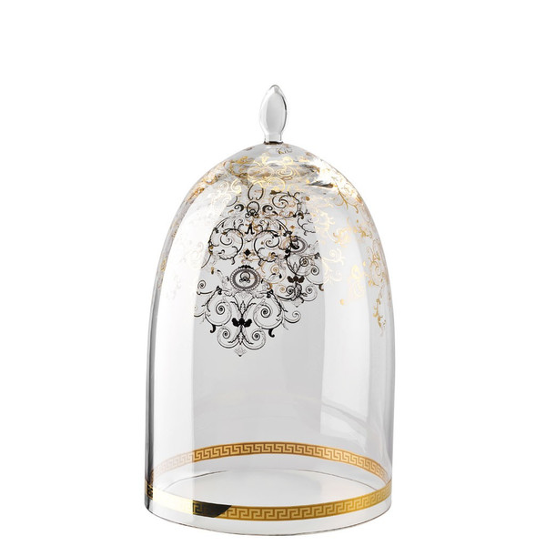 Glass Dome for Etagere, 2 tiers | Versace Medusa Gala