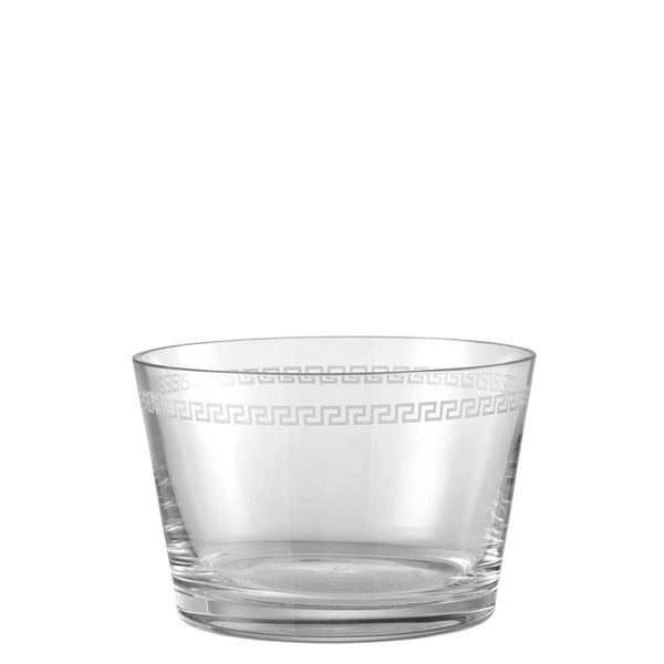 Bowl, 8 3/4 inch | Versace Medusa Clear