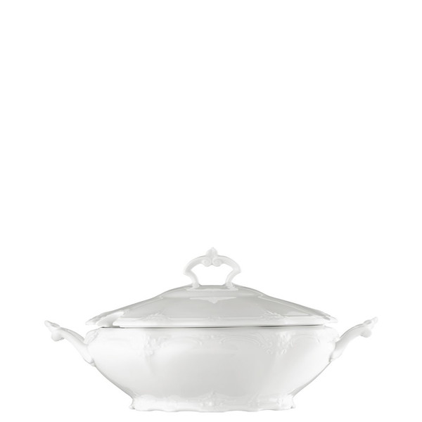 Vegetable Bowl, Covered, 50 ounce | Rosenthal Baronesse White