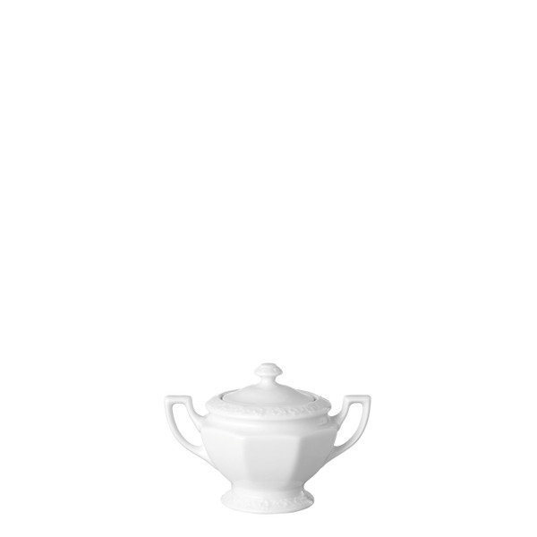Sugar Bowl, Covered, 9 ounce | Rosenthal Maria White