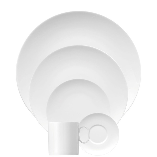 5 Piece Place Setting (5 pps) | Thomas Medaillon White