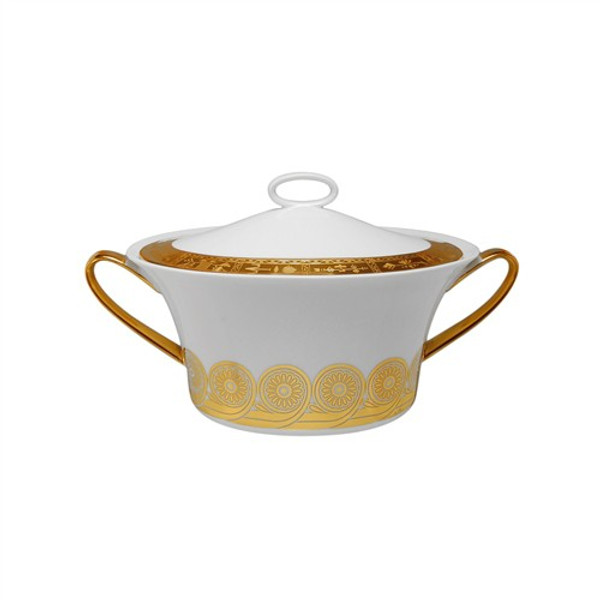 Vegetable Bowl, Covered, (Lid Sand Blasted), 54 ounce | Rosenthal Persis