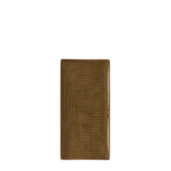 Platter flat rectangular, 10 1/4 x 5 inch | Rosenthal Mesh Walnut