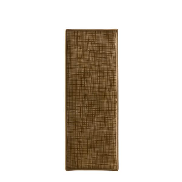 Platter flat rectangular, 13 1/2 x 5 inch | Rosenthal Mesh Walnut