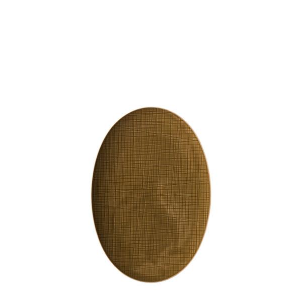 Platter flat oval, 13 1/2 inch | Rosenthal Mesh Walnut