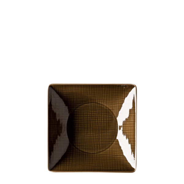 Plate deep square, 8 inch | Rosenthal Mesh Walnut