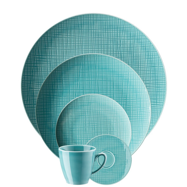 5 Piece Place Setting (5 pps) | Mesh Aqua