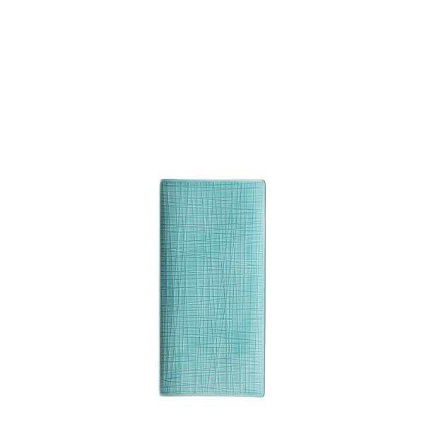 Platter flat rectangular, 10 1/4 x 5 inch | Rosenthal Mesh Aqua