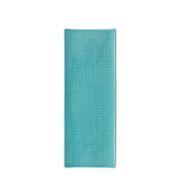 Platter flat rectangular, 13 1/2 x 5 inch | Rosenthal Mesh Aqua