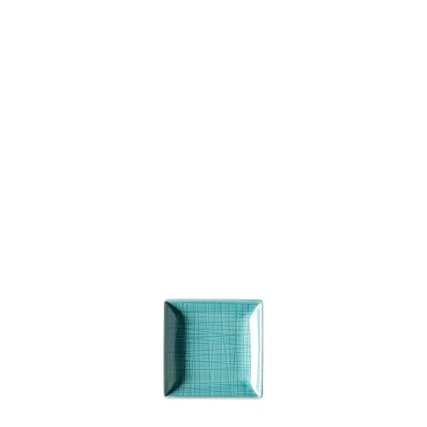 Dish square, 4 x 4 inch | Rosenthal Mesh Aqua