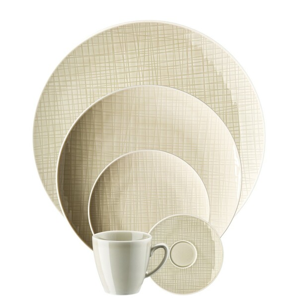5 Piece Place Setting (5 pps) | Mesh Cream