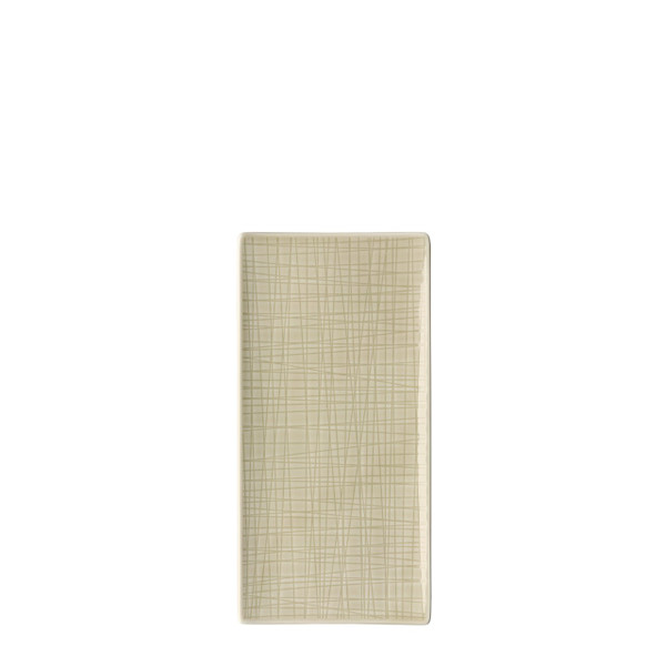Platter flat rectangular, 10 1/4 x 5 inch | Rosenthal Mesh Cream