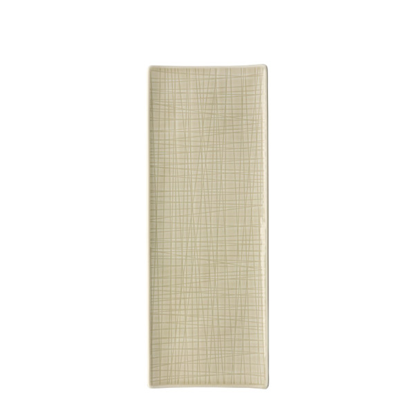 Platter flat rectangular, 13 1/2 x 5 inch | Rosenthal Mesh Cream