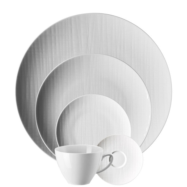 5 Piece Place Setting (5 pps) | Mesh White