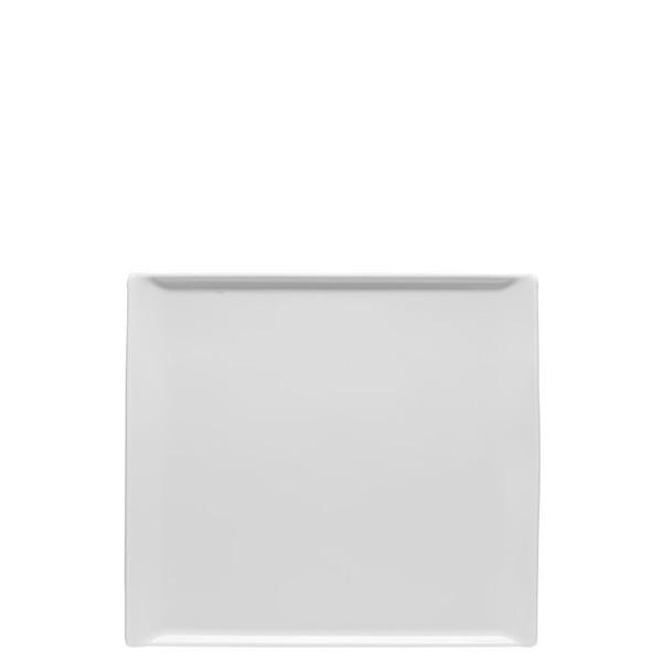 Plate flat rectangular, 10 1/4 x 9 1/2 inch | Rosenthal Mesh White