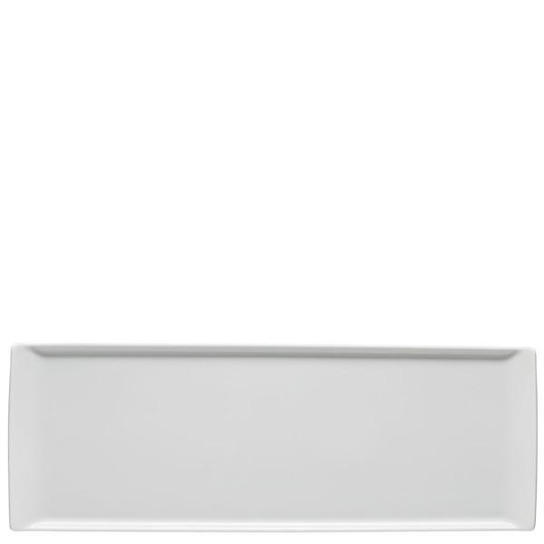 Plate flat rectangular, 16 1/8 x 6 inch | Rosenthal Mesh White