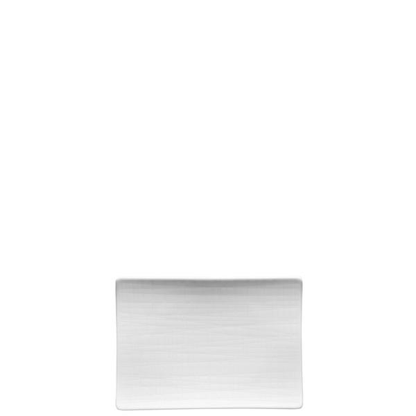 Platter flat rectangular, 7 x 5 1/2 inch | Rosenthal Mesh White