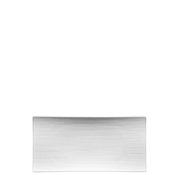 Platter flat rectangular, 10 1/4 inch | Rosenthal Mesh White