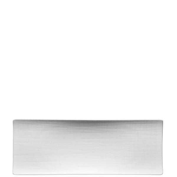 Platter flat rectangular, 13 1/2 inch | Rosenthal Mesh White