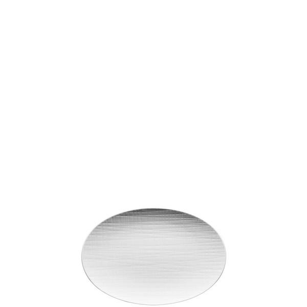 Platter flat oval, 9 7/8 inch | Rosenthal Mesh White