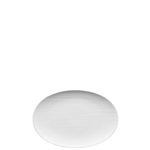 Platter flat oval, 11 3/4 inch | Rosenthal Mesh White