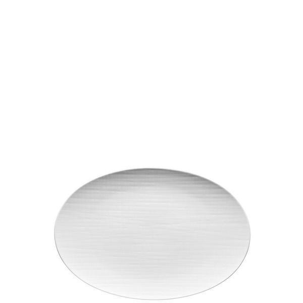 Platter flat oval, 13 1/2 inch | Rosenthal Mesh White