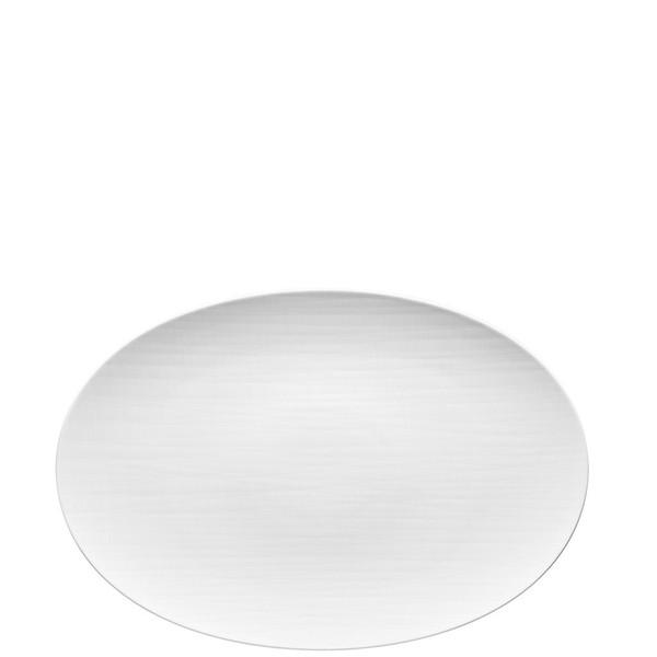 Platter flat oval, 16 1/2 inch | Rosenthal Mesh White