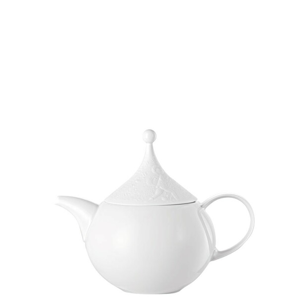 Tea Pot, 39 ounce | Rosenthal Magic Flute White