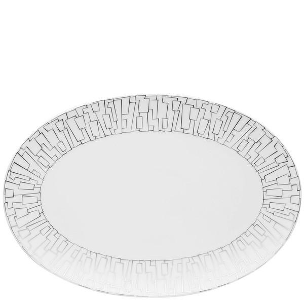 Platter, 13 1/2 inch | Rosenthal TAC 02 Skin Platinum
