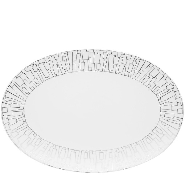 Platter, 15 inch | Rosenthal TAC 02 Skin Platinum